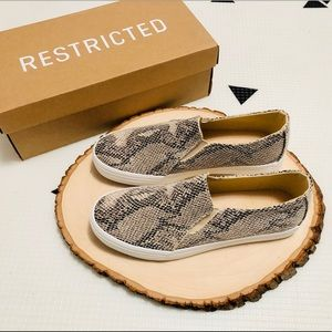 Restricted Vanity Snake Skin Slip on Sneaker